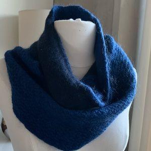 Gerard Darel infinity scarf 2 blues 2 knits